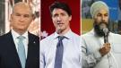 Erin O'Toole, Justin Trudeau, Jagmeet Singh