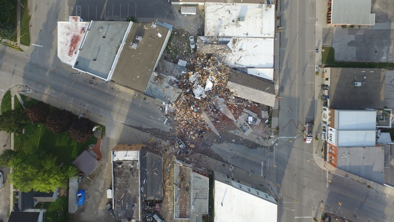 Explosion aftermath in Wheatley, Ont. (Courtesy Kyle Mills)