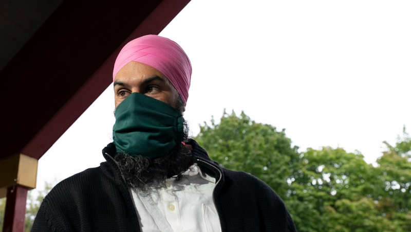 New Democratic Party Leader Jagmeet Singh is seen during an election campaign stop in Ottawa, Sunday, September 5, 2021. (THE CANADIAN PRESS / Jonathan Hayward)