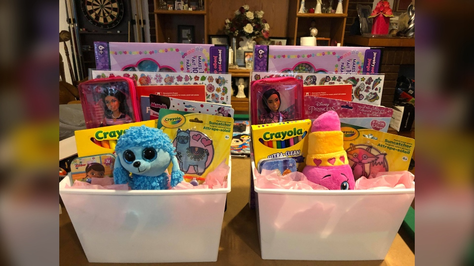 Two 'Smile Boxes' going to Afghan children