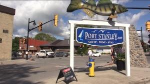 Port Stanley, Ont. sign on Sunday, Sept. 5, 2021. (Brent Lale/CTV London)