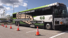 Many got a shot of a COVID-19 vaccine at the GO-Vaxx Bus while it was stationed outside the Tanger Outlet Mall in Cookstown on Sun. Sept. 5, 2021 (Amanda Hicks/CTV News Barrie)