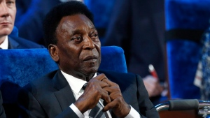 In this Dec. 1, 2017, file photo, Brazilian soccer legend Pele attends the 2018 soccer World Cup draw in the Kremlin in Moscow. (AP Photo/Alexander Zemlianichenko, File)