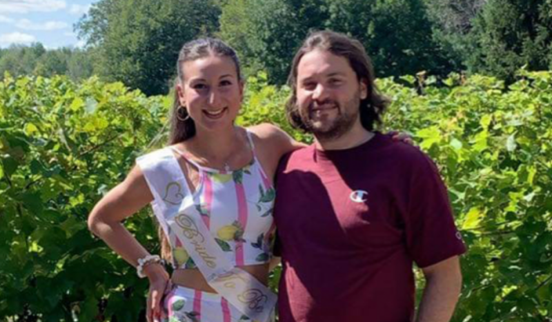 Laura Ciccia and Costa Tsitouras are getting married in October and when it comes to vaccination status their main concern is for their grandparents. SOURCE: Laura Ciccia