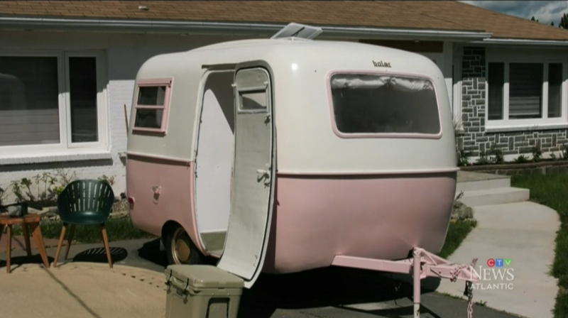 Rebekah Higgs' latest project breathes new life into an old 1973 Boler Trailer without breaking the bank.