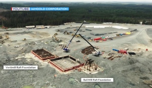 IAMGOLD's Cote project officials said they are creating a gold mine for the future. It will have some of the biggest processing mills in the world and use autonomous trucks and drills. (Submitted by IAMGOLD)