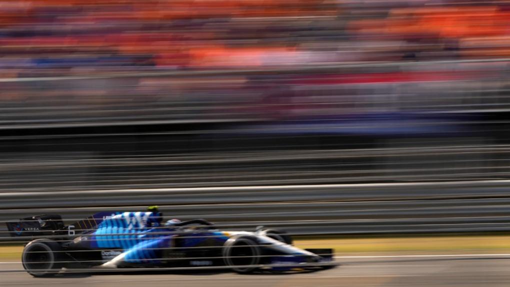 Williams driver Nicholas Latifi at Zandvoort