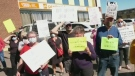Protest for pandemic protocols
