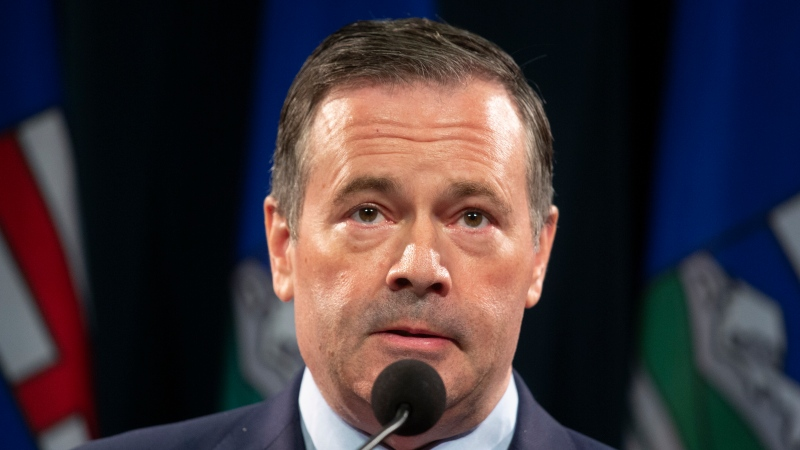 Alberta Premier Jason Kenney answers questions at a news conference where the provincial government announced new restrictions because of the surging COVID cases in the province, in Calgary, Alta., Friday, Sept. 3, 2021.THE CANADIAN PRESS/Todd Korol