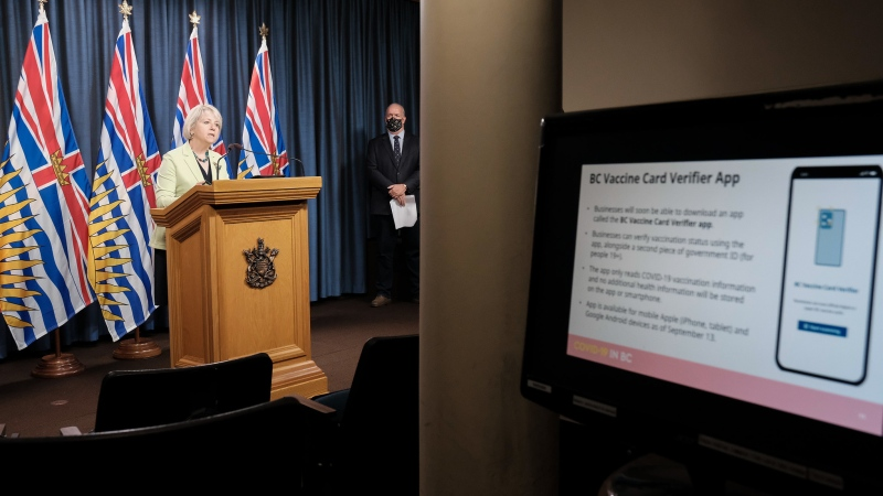 Dr. Bonnie Henry releases information on vaccination cards in B.C. on Sept. 7, 2021. (Province of BC/Flickr)