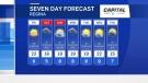 Regina's seven-day forecast as of September 9, 2021.