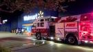 Emergency crews respond to a fire at a Kitchener Walmart on Sept. 9, 2021 (CTV Kitchener)