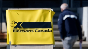 A man enters an advance polling station in Ottawa, Friday, Sept. 10, 2021, ahead of the Federal Election Sept. 20th. (Adrian Wyld/THE CANADIAN PRESS)