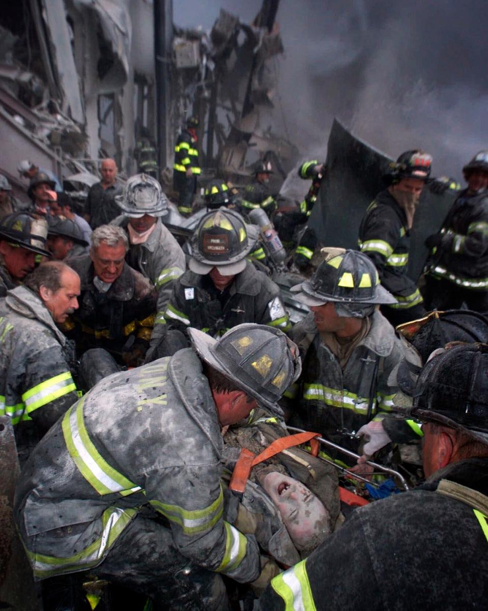 Firefighter taken from the World Trade Center