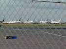 Planes on tarmac at Halifax Airport Sept. 11, 2001