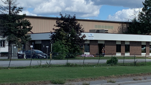 Ottawa police are investigating after human remains were discovered at a business on Sheffield Road on Friday, Sept. 10, 2021. (Ian Urbach/CTV News Ottawa)