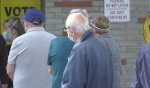 There were lines at polling stations across North Bay on Friday as voters were hoping to cast their ballot before election day. (Eric Taschner/CTV News)