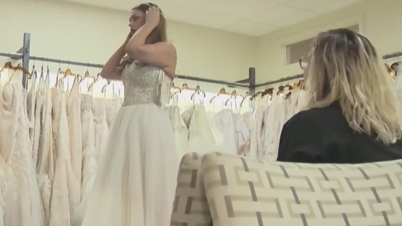 Brides out of money, dresses after store closure
