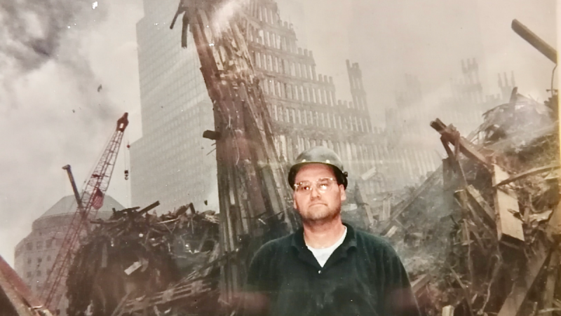 Ironworker and Mohawk Council of Kahnawake chief Lindsay Leborgne took the terror attacks of Sept. 11, 2001 personally, and he decided to go back to New York City and aid in the clean up. SOURCE: Lindsay Leborgne