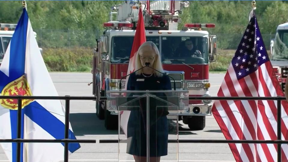 Halifax airport ceremony