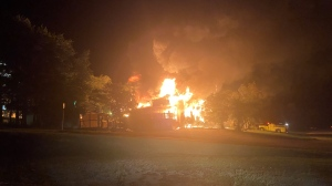 The Moosehead Inn in Kenosee Lake was destroyed in a fire on September 10, 2021. (Courtesy: Dale Orsted)