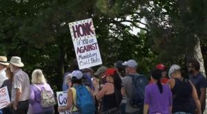 Protestors gather outside The Ottawa Hospital (File Photo / CTV News)
