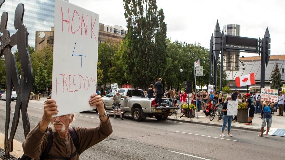 Anti-vaccine protest