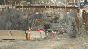 Stage 2 LRT construction. (File Image / CTV News Ottawa)