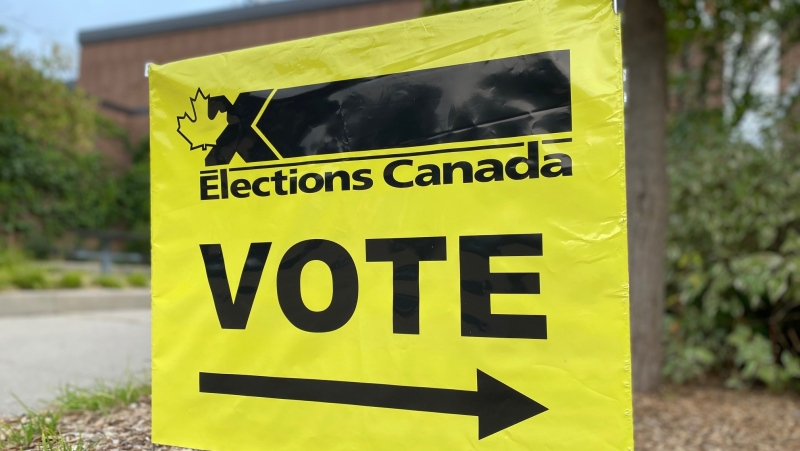 advance poll election canada vote sign generic