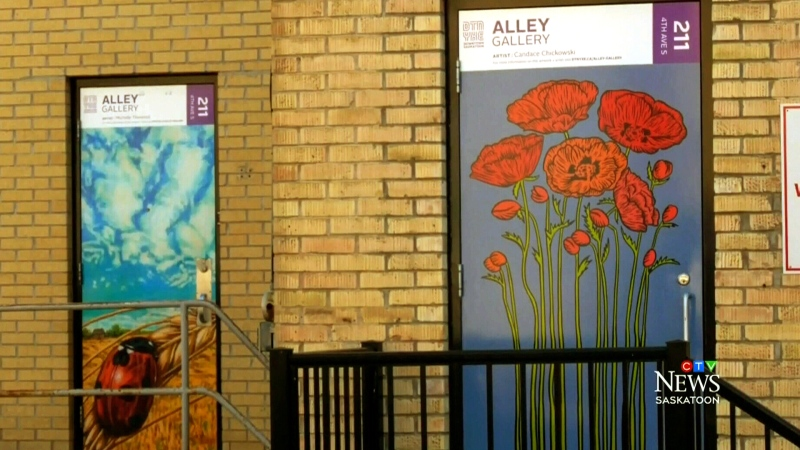 Downtown Saskatoon welcomes new alley gallery