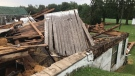 Storm damage in the Ailsa Craig, Ont.-area is seen on Monday, Sept. 13, 2021. (Sean Irvine / CTV News)