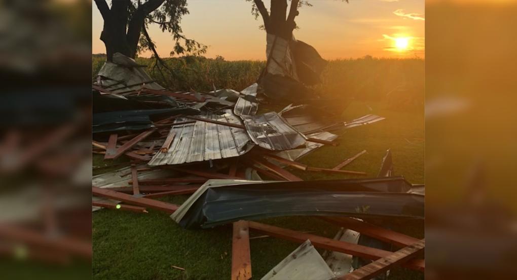 Belmont storm damage