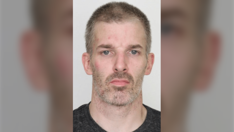 Police in Charlottetown, P.E.I. have issued an arrest warrant for 37-year-old Michael Arthur Gaudet, wanted for attempted murder after a woman was stabbed Monday morning. (Photo via Charlottetown Police Services)