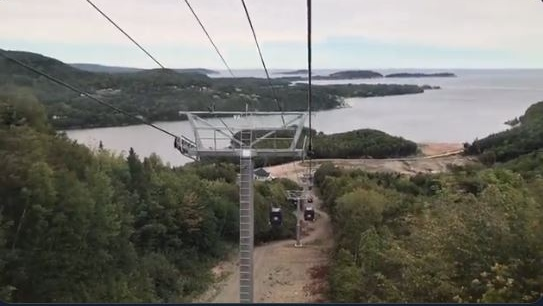 As you move up the mountain, the views of the surrounding Cape Breton Highlands keep getting better. There are panoramic views of the mountain and ocean.