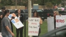 Protests against vaccine passports at LHSC