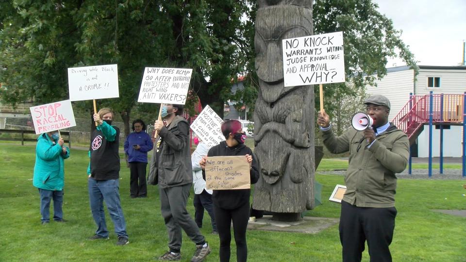 Hakeem's protest