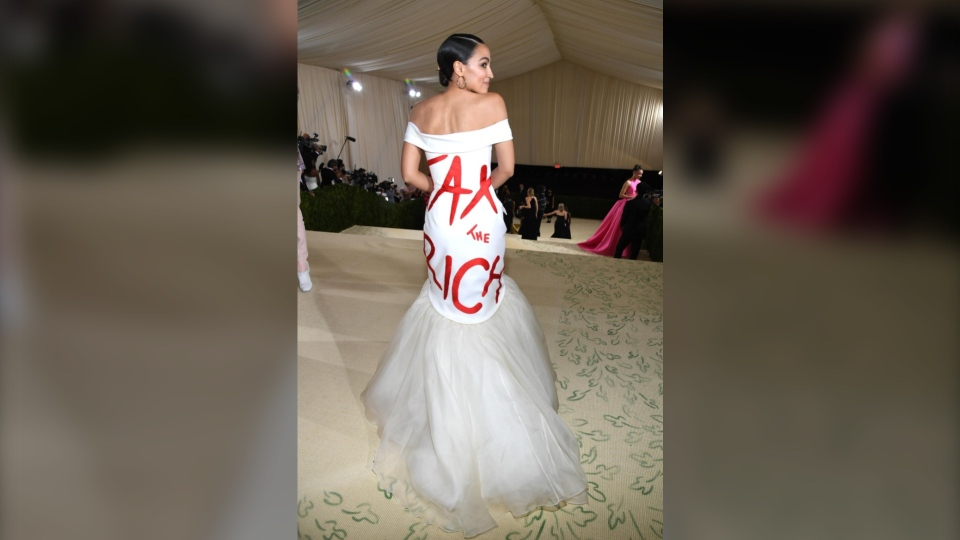 AOC Met Gala dress