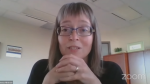 Dr. Deena Hinshaw, Alberta's chief medical officer of health, spoke with physicians in an online discussion on the state of the COVID-19 pandemic in the province, on Sept. 13. (Zoom/YouTube)