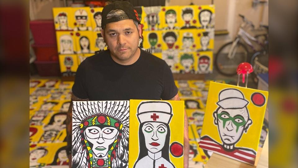 Indigenous artist Johnny Bandura
