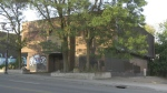 A burned-out building at 1125 Bank Street in Old Ottawa South will be demolished. (Shaun Vardon/CTV News Ottawa)
