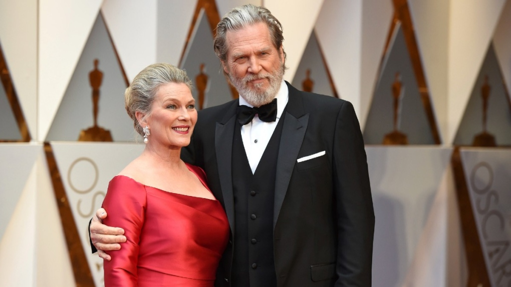 Susan Geston, Jeff Bridges at the Oscars in 2017