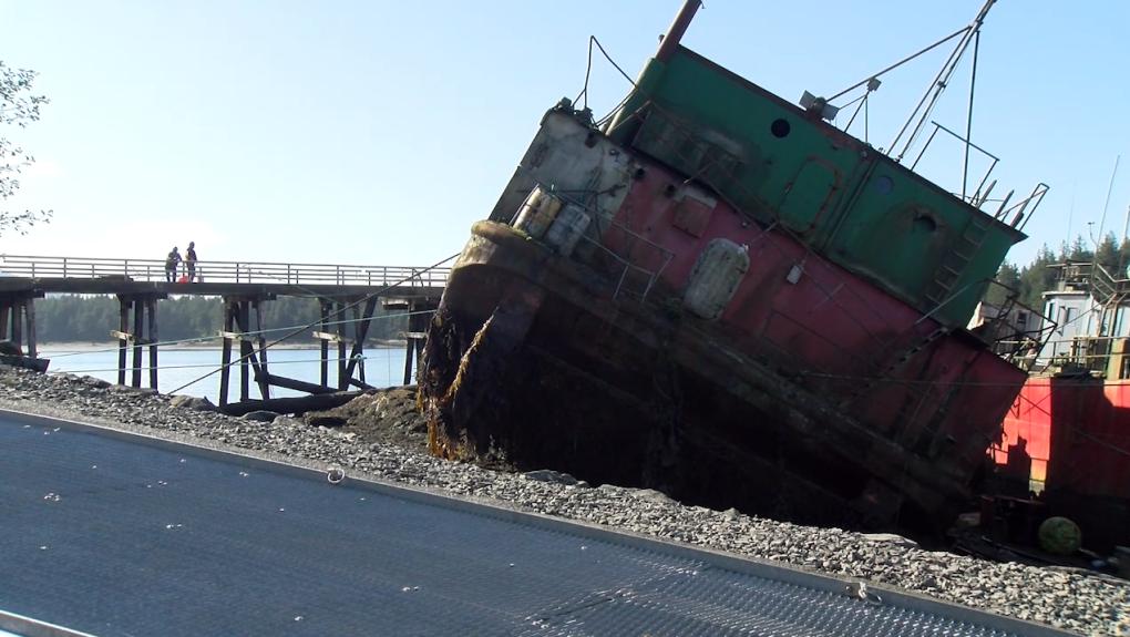 Derelict vessels at Port Edward
