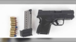 Ottawa police say they seized a gun on Rideau Street on Monday, Sept. 13, 2021 after a business owner called about a suspected drug deal. (Photo submitted by the Ottawa Police Service)