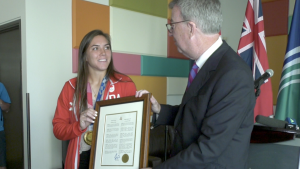 September 14 has been declared as Vanessa Gilles Day in Ottawa, recognizing the Ottawa athlete for her Olympic achievement. (Leah Larocque / CTV News Ottawa)
