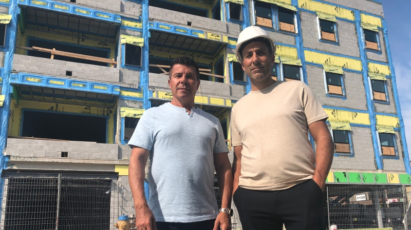 Frank Amante and Randy Saccucci, owners of 781 Erie Street, in Windsor, Ont. on Tuesday, Sept. 14, 2021. (Alana Hadadean/CTV Windsor)