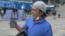 Bruce Perry said he was denied entry into Monday night's Toronto Blue Jays game over the COVID-19 vaccination documents he presented at the gate. (CTV News Toronto)