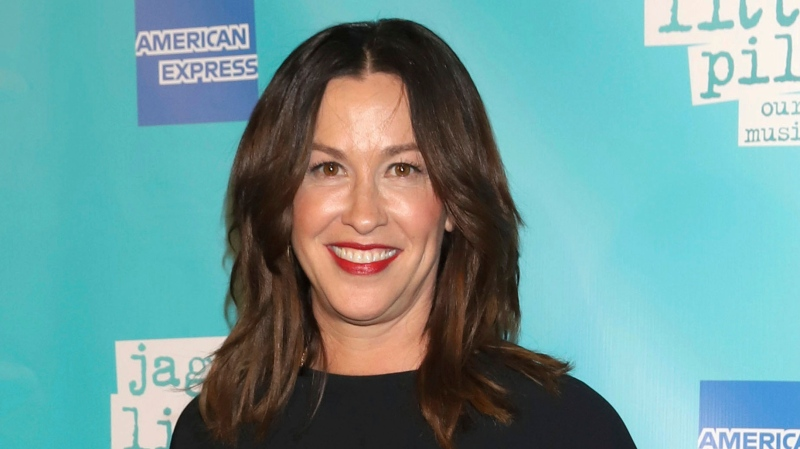 """Alanis Morissette attends the """"Jagged Little Pill"""" Broadway opening night in New York on Dec. 5, 2019.  (Photo by Greg Allen/Invision/AP, File)"""