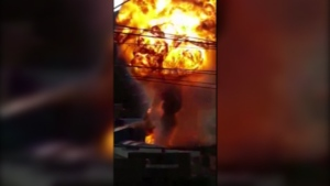 Two explosions involving fuel tanks occurred on Sept.13 in Bolivia, injuring at least 12 people.