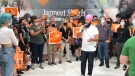 NDP Leader Jagmeet Singh made a campaign stop in Windsor, Ont. on Tuesday, Sep. 14, 2021. (Angelo Aversa / CTV Windsor)
