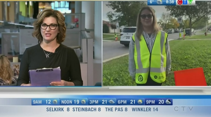 School patrol Presley McPhee says it's important for kids and drivers to be careful in school zones. Rachel Lagacé reports.